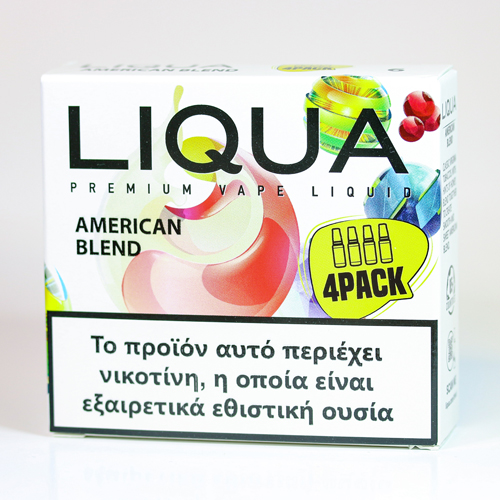 liqua 4pack american blend υγρα αναπληρωσης