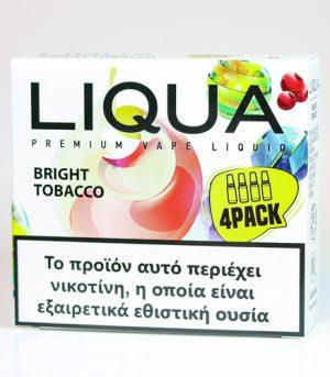 liqua 4pack bright tobacco υγρα αναπληρωσης