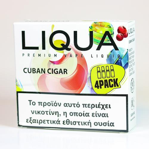 liqua 4pack cuban cigar υγρα αναπληρωσης