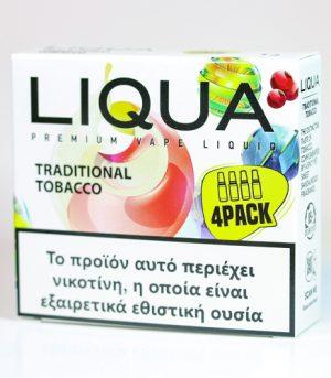 liqua 4pack traditional tobacco υγρα αναπληρωσης