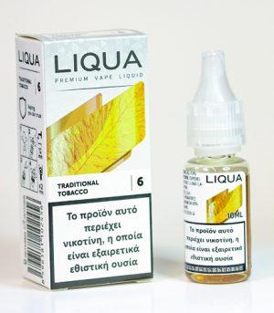 liqua traditional tobacco υγρα αναπληρωσης