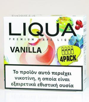 liqua 4pack vanilla υγρα αναπληρωσης